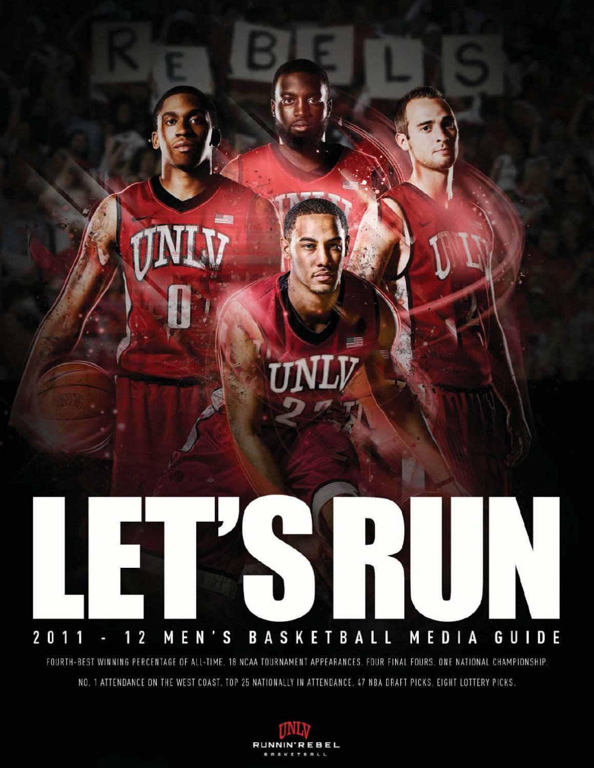 2011 12 UNLV Mens Basketball Media Guide By Sports Information