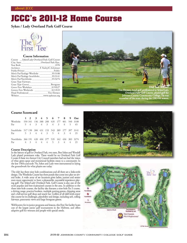 Fall 2011 JCCC Golf Media Guide by Chris Gray - issuu