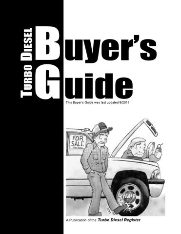 Turbo Diesel Buyers Guide by Turbo Diesel Register - issuu