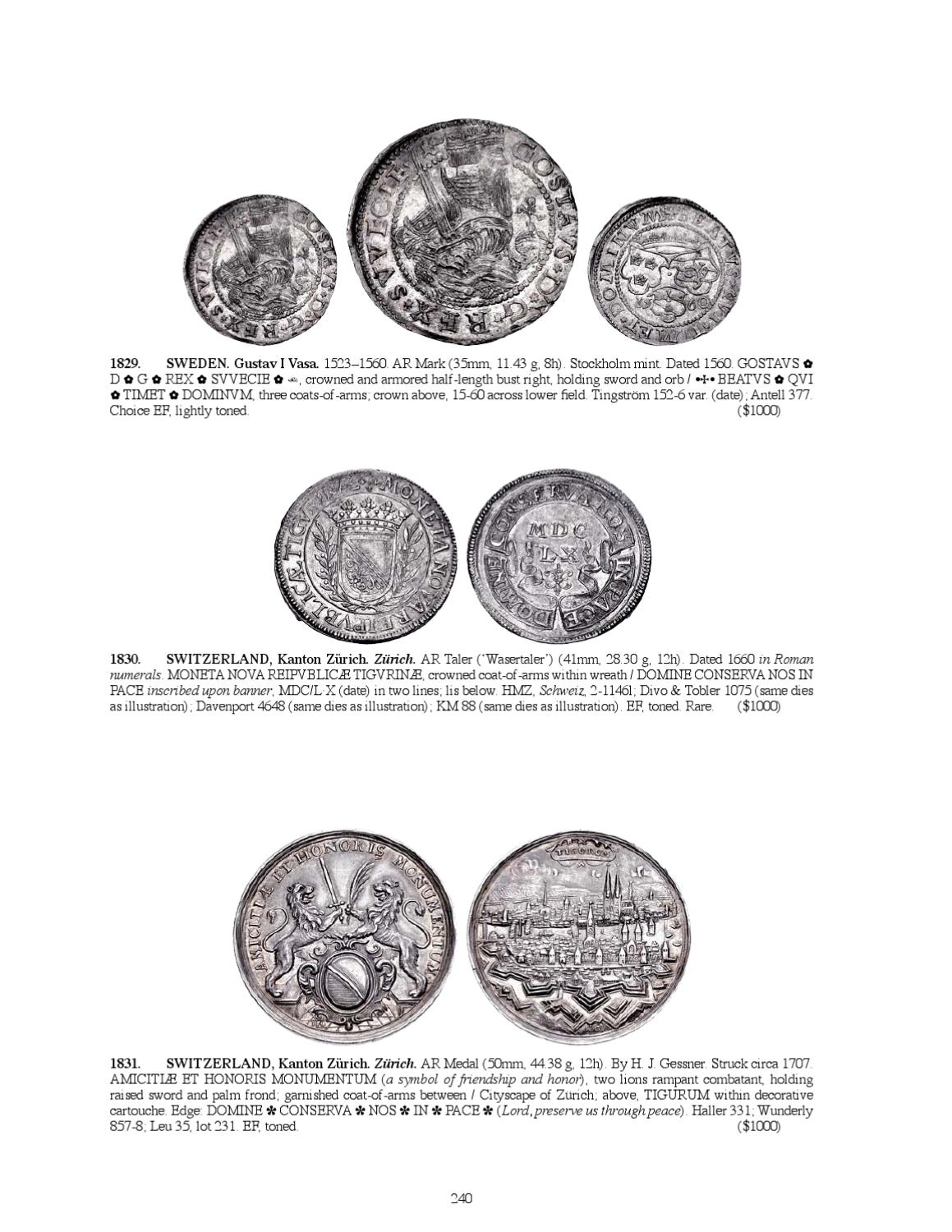 Triton XV Sessions 3 and 4 Virtual Catalog by Classical Numismatic