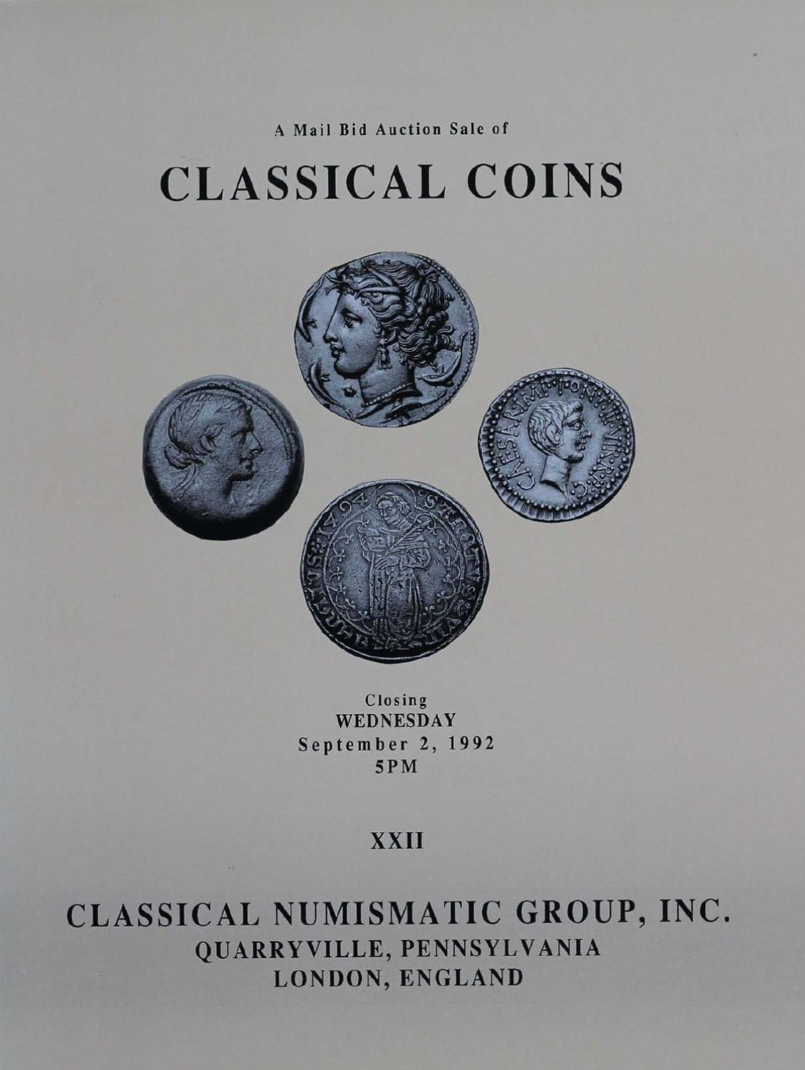 Cng Xxii By Classical Numismatic Group Inc Issuu 1990 Lincoln Mark Vii Wiring Diagram For Etac System