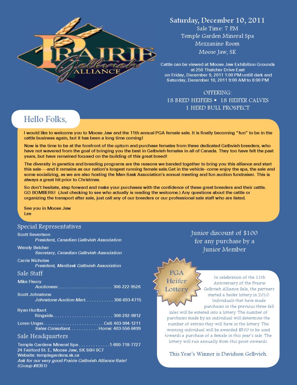 Prairie Gelbvieh Alliance Sale by Today's Publishing Inc