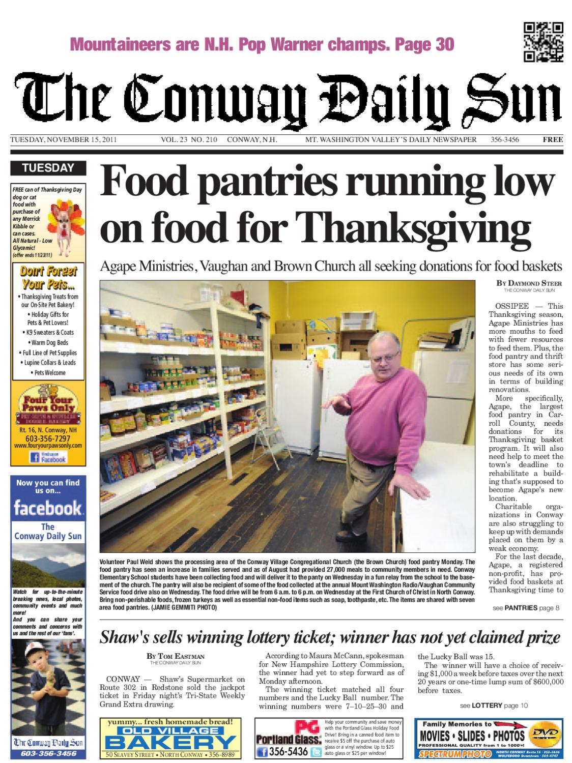 The Conway Daily Sun, Tuesday, November 15, 2011 by Daily
