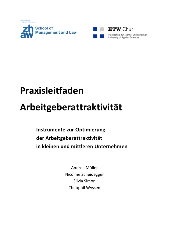 ZHCM Praxisleitfaden Arbeitgeberattraktivitaet by ZHAW School of ...