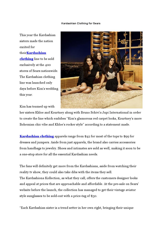 Kardashian Clothing for Sears by fashionshopsonline