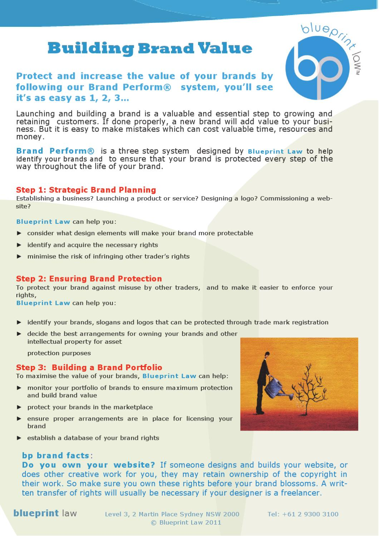 Brand perform brochure by blueprint law pty ltd issuu malvernweather Gallery