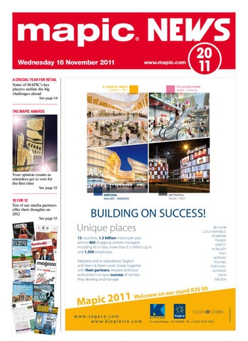 9af4c897543 MAPIC 2011 NEWS by REED MIDEM REAL ESTATE SHOWS - issuu