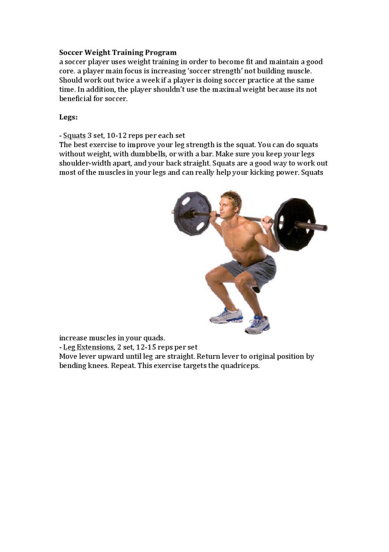 Soccer Weight Training Program by klemens koestler - issuu