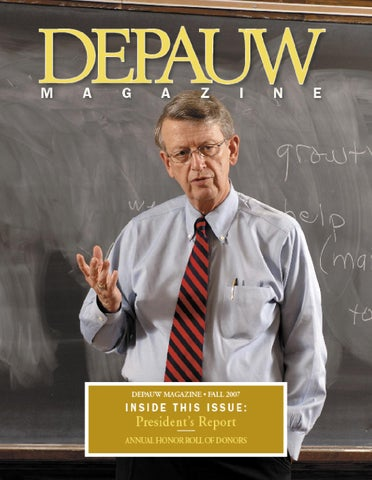 Fall2007 By Depauw University Publications Issuu
