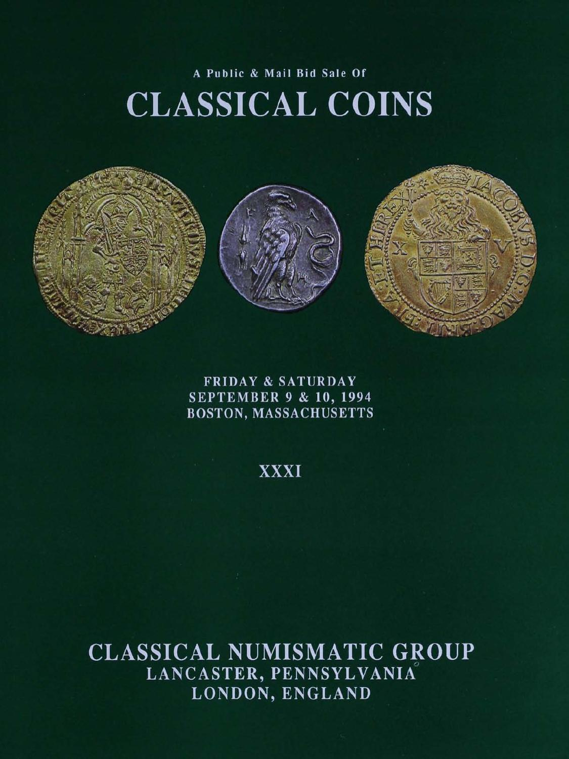 on sale 7be6f fc8a5 CNGXXXI by Classical Numismatic Group, LLC - issuu