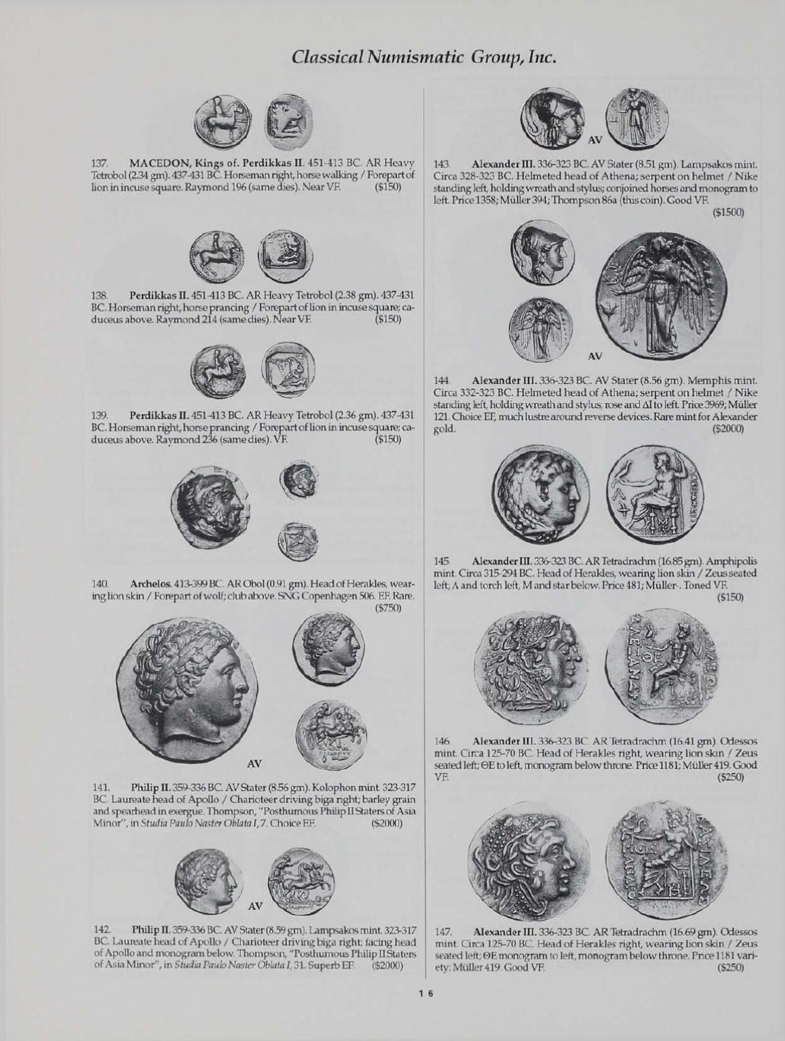 CNG_XXXIII by Classical Numismatic Group, LLC - issuu