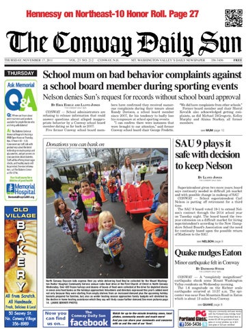The Conway Daily Sun Thursday November 17 2011 By Daily Sun Issuu