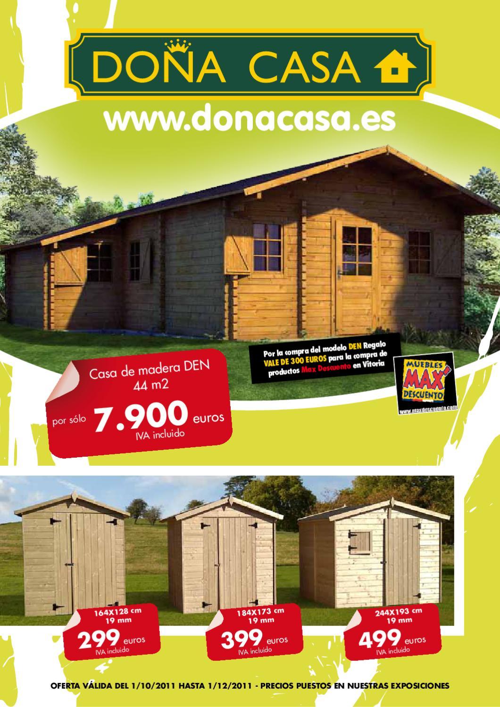 Nuevo catalogo by donacasa issuu - Ver casas de madera ...
