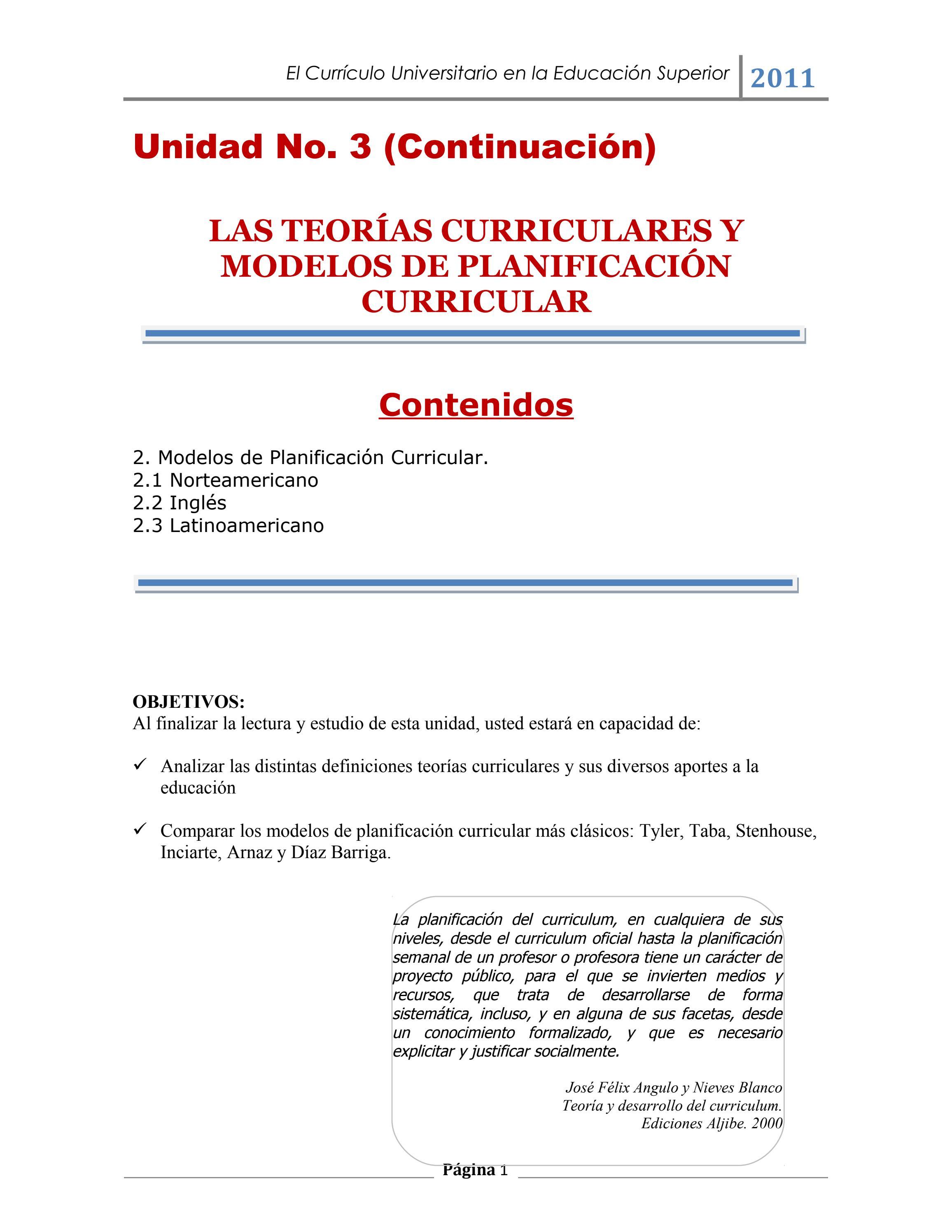 teorias curriculares by Daniel Calvillo - issuu