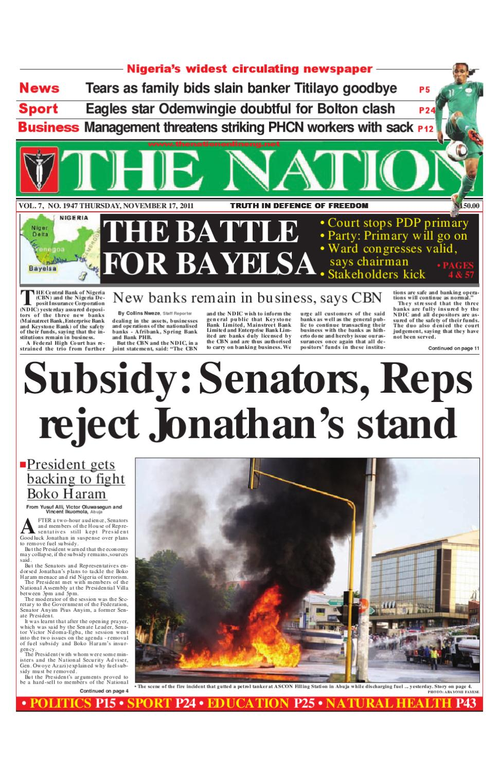 The Nation November 17, 2011 by The Nation - issuu