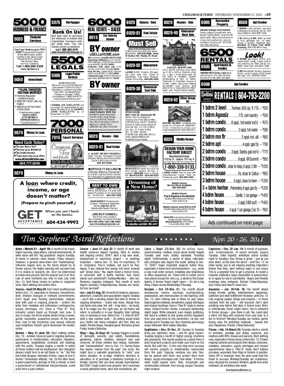 Chilliwack Times November 17 2011