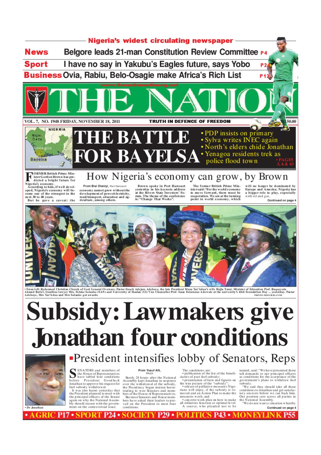 The Nation November18, 2011 by The Nation - issuu