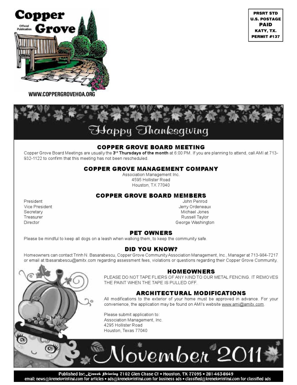 Copper_Grove-Nov by Krenek Printing - issuu