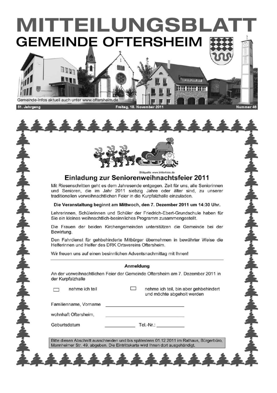 2011-46 Mitteilungsblatt - Gemeinde Oftersheim by Gemeinde ...
