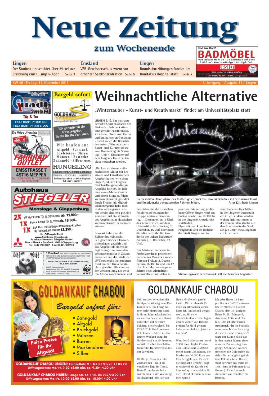Neue Zeitung - Ausgabe Lingen KW 46 by Gerhard Verlag GmbH ...