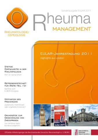 Rheuma Management Sonderausgabe Eular By Rheuma Management Issuu