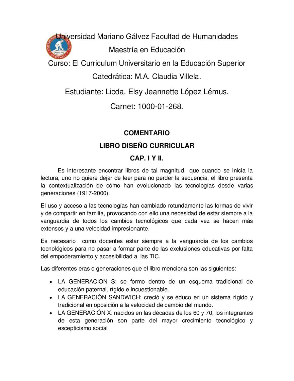 comentario by Elsy Jeannette López Lémus - issuu