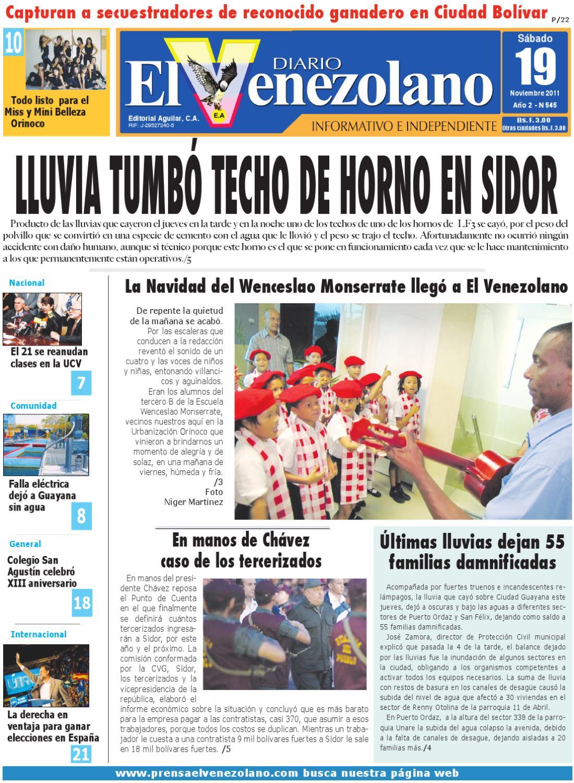 Sábado 19-11-2011 by Diario El Venezolano Diario independiente ...