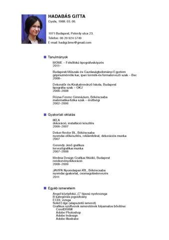 önéletrajz b kategóriás jogosítvány Önéletrajz by Gitta Hadabas   issuu önéletrajz b kategóriás jogosítvány