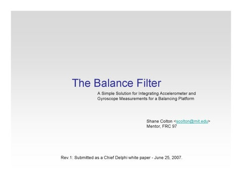 Complementary filter and Kalman filter introduction by Ong Heng Gnee