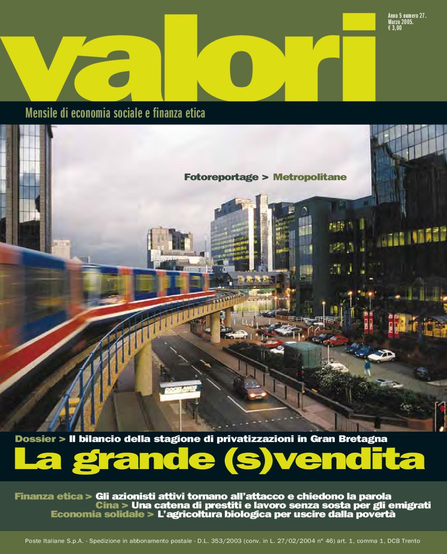 4c8934d8357513 Mensile Valori n. 27   2005 by Mensile Valori - issuu
