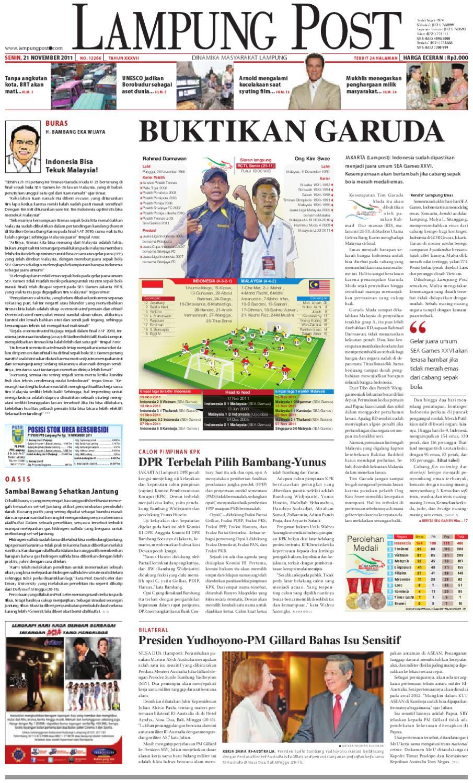 lampung post edisi 21 november 2011 by Lampung Post - issuu e2b37f0c26