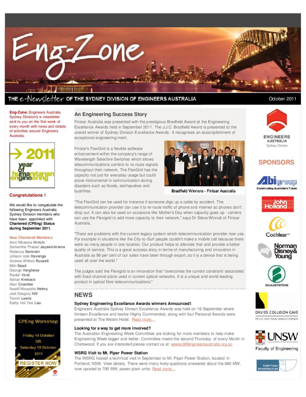 EngZone - October 2011 by Engineers Australia - issuu
