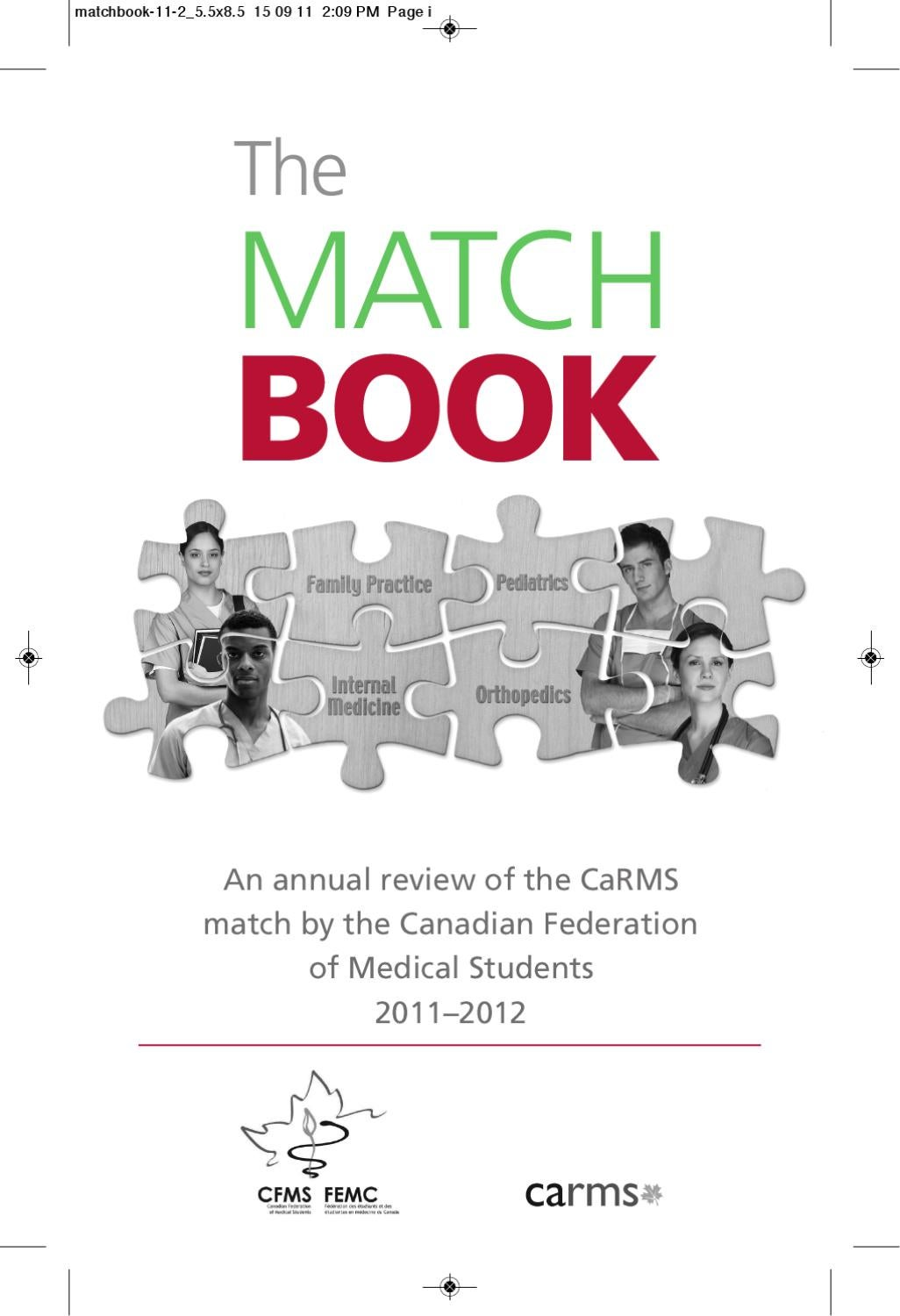 Cfms Match Book 2011 By Canadian Federation Of Medical Students Issuu