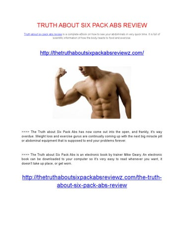 The Truth About Six Pack Abs Book