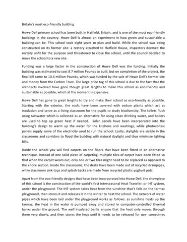 mip essay pt by ghaarith steyn issuu britain s most eco friendly building howe dell primary school has been built in hatfield britain and is one of the most eco friendly buildings in the