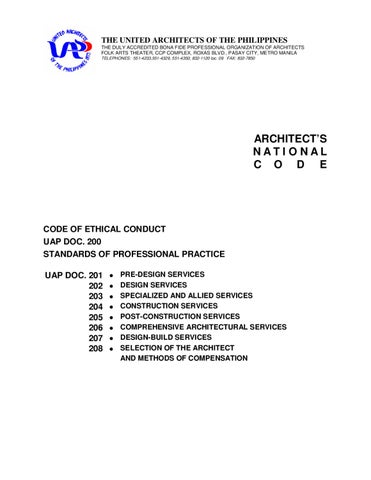 Architect's National Code by Asaphil Feu - issuu