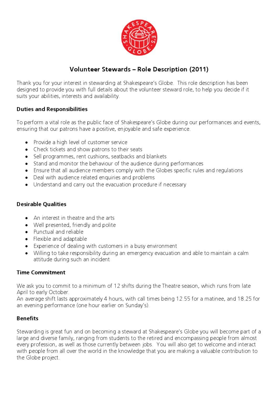 Volunteer_Stewards_Role_Description by Dragos Badea - issuu