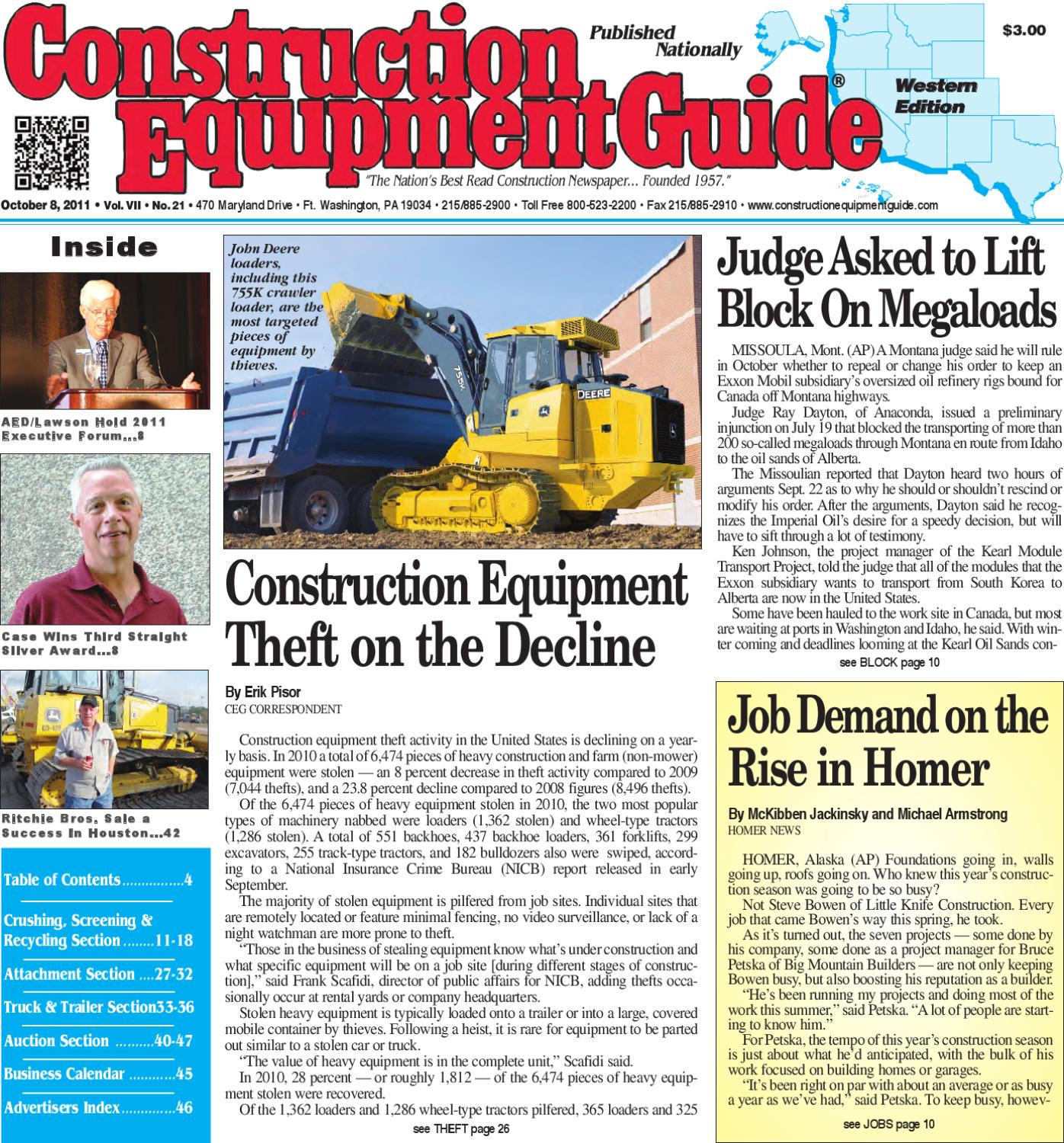 West #21, 2011 by Construction Equipment Guide - issuu