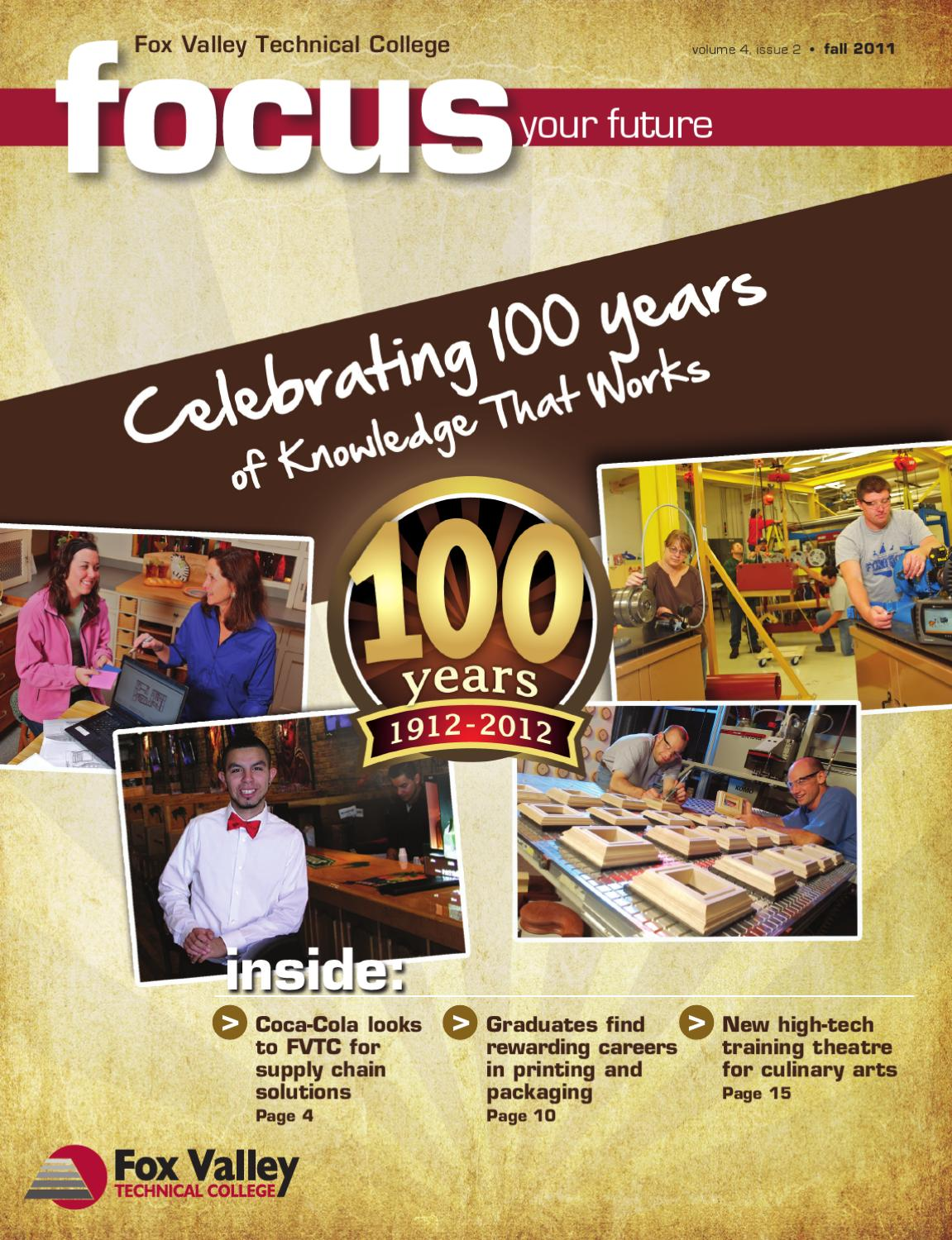 Focus Magazine Fall 2011 By Fox Valley Technical College