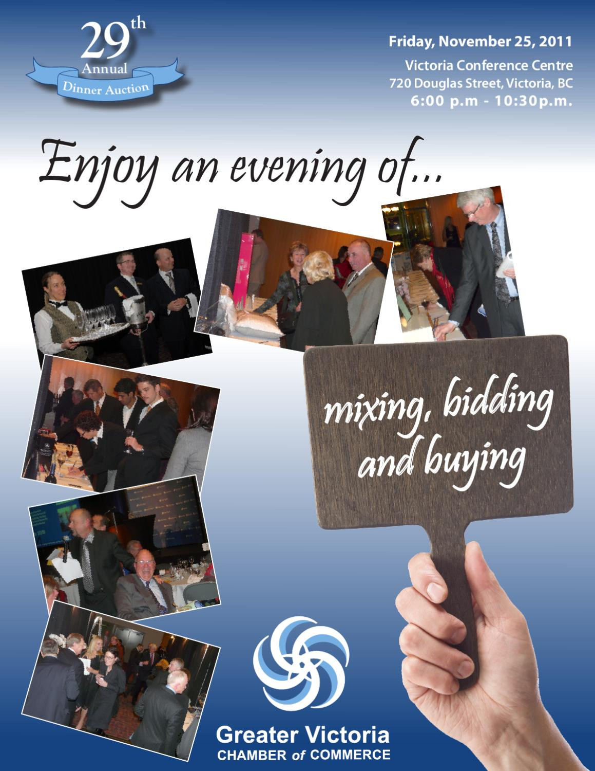 29th Annual Dinner Auction by Greater Victoria Chamber of