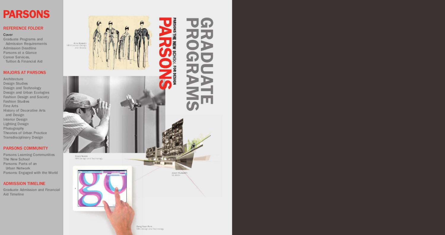 Parsons Graduate Recruitment By The New School Issuu