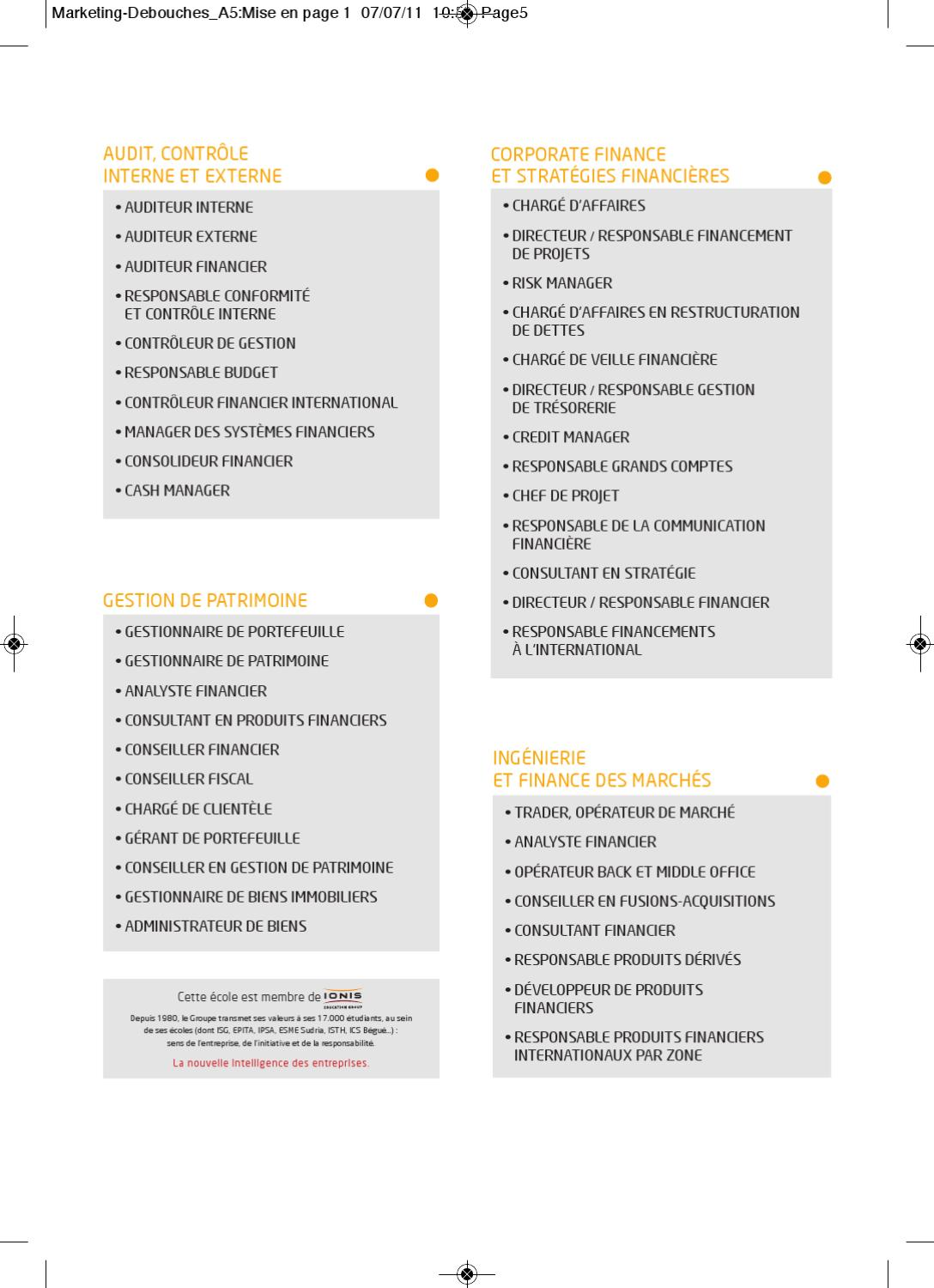 Fiche m tiers iseg finance school by thomas s issuu - Responsable middle office ...