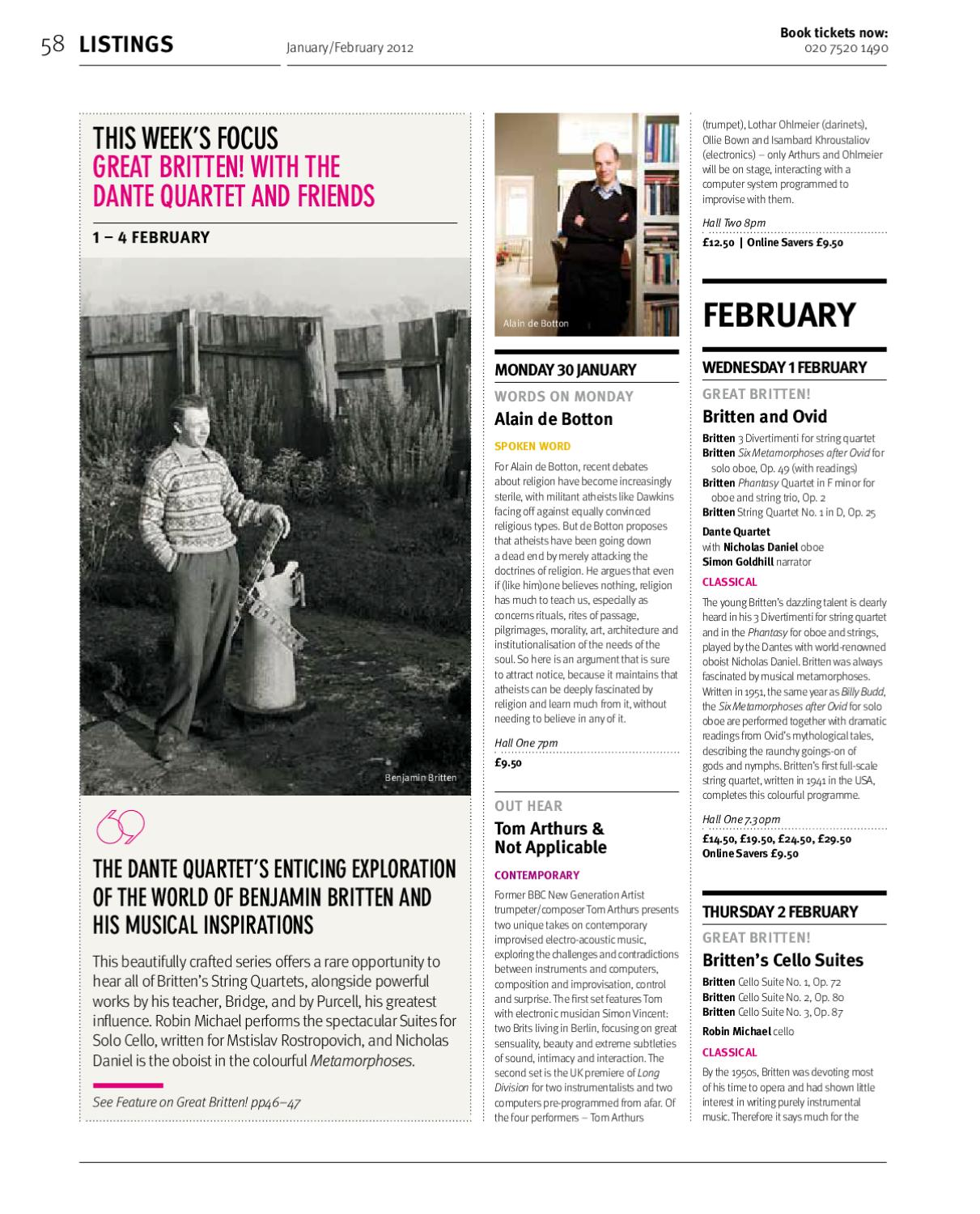 What's On Spring 2012 by Kings Place - issuu