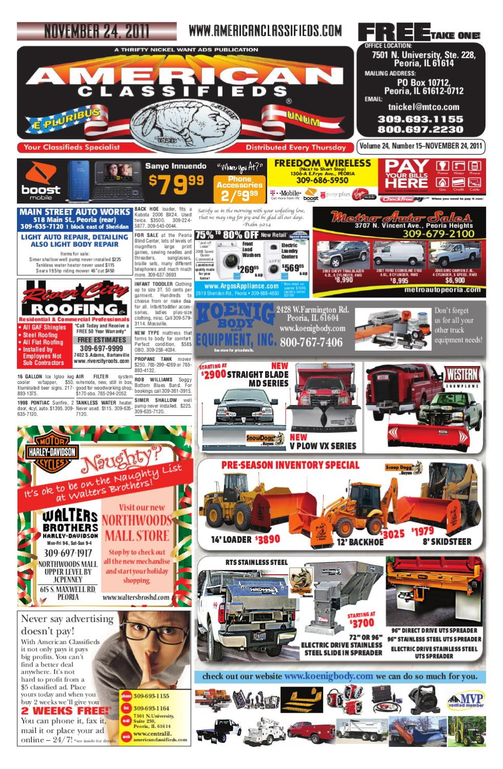 American classifieds november 24 2011 peoria il by american classifieds issuu