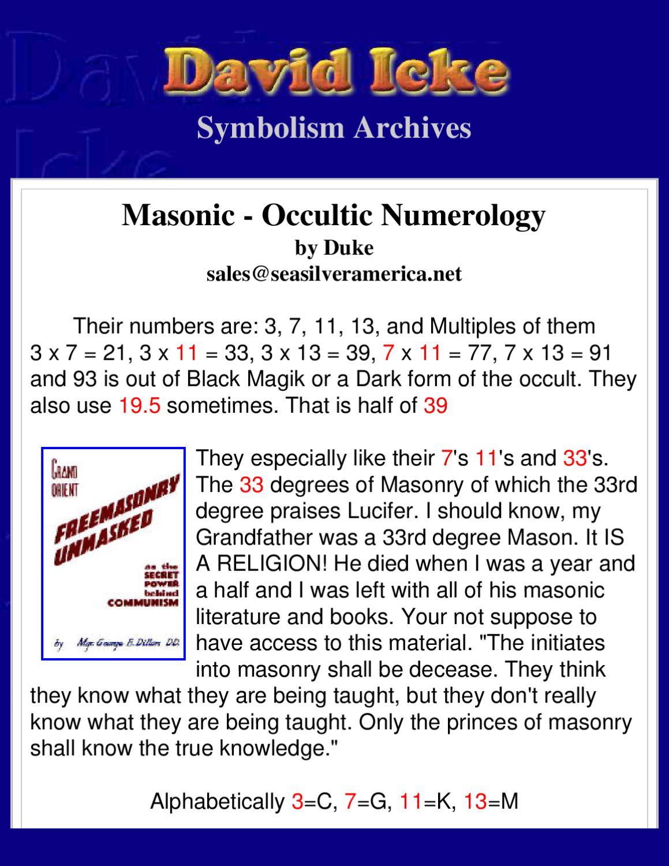 David Icke - Masonic Occult Numerology by Infowar Books - issuu