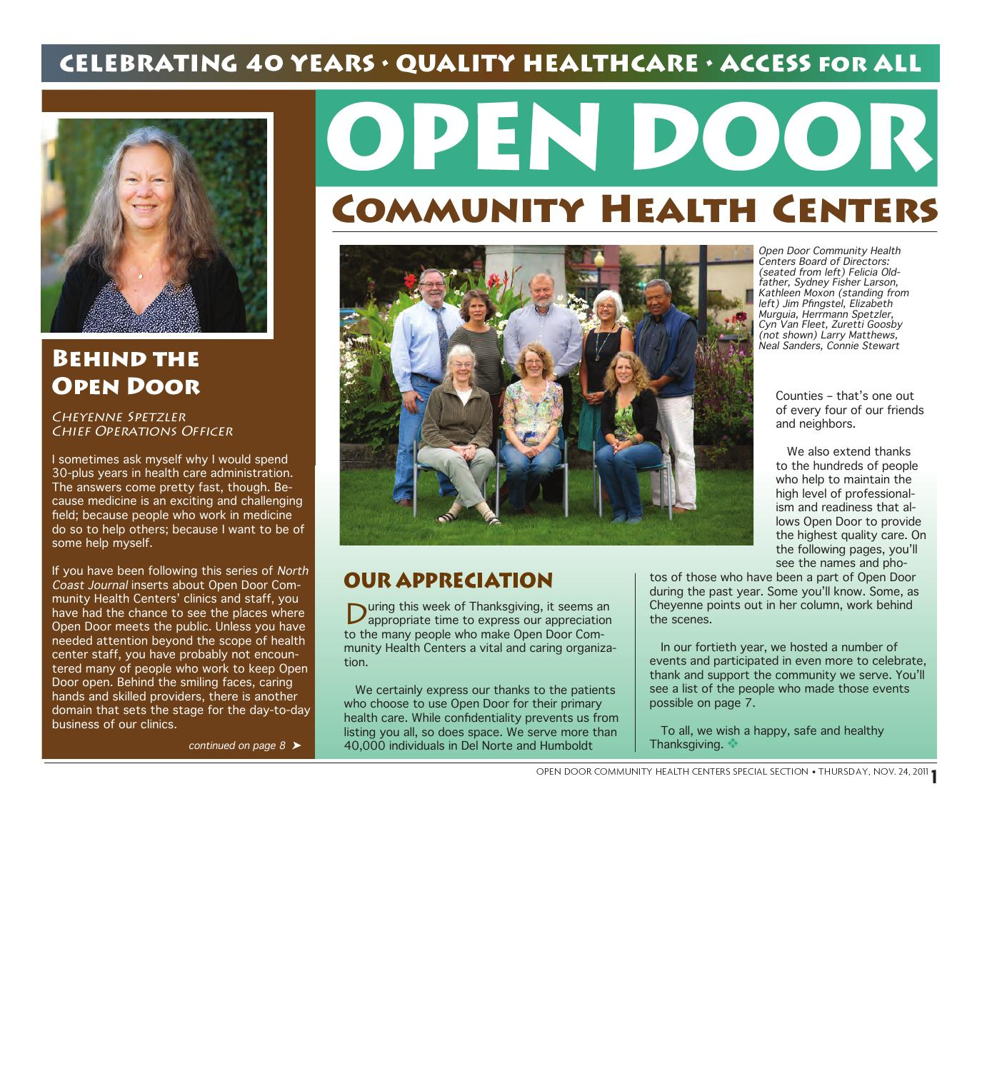 Attractive Open Door Community Health Centers By North Coast Journal   Issuu