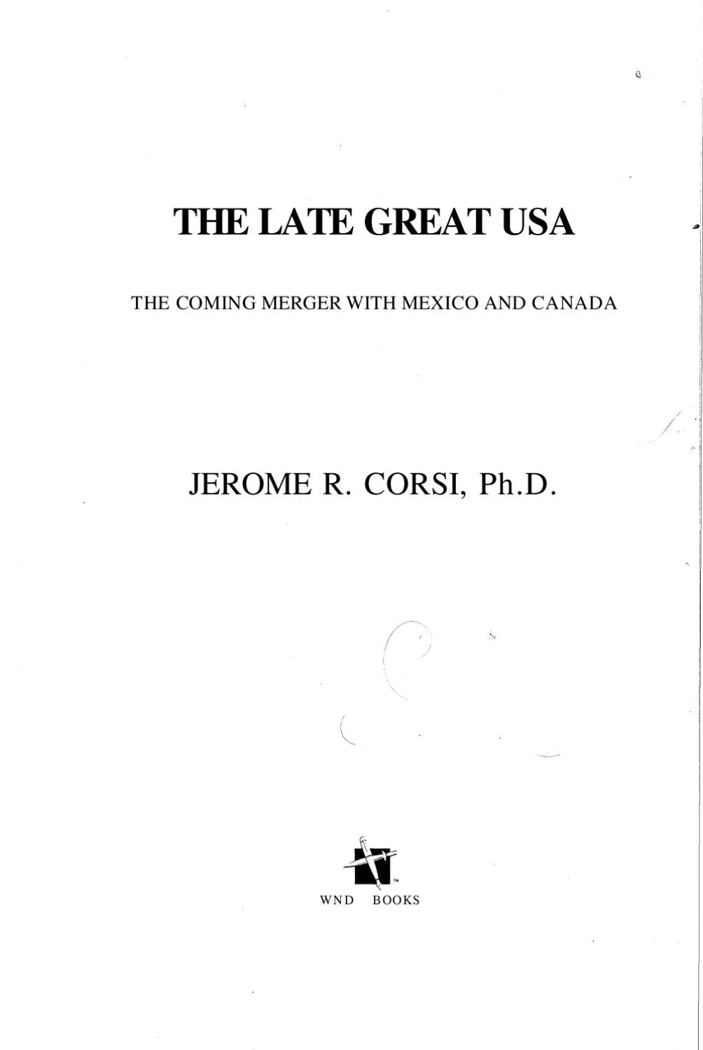 Jerome Corsi - The Late Great USA by Infowar Books - issuu