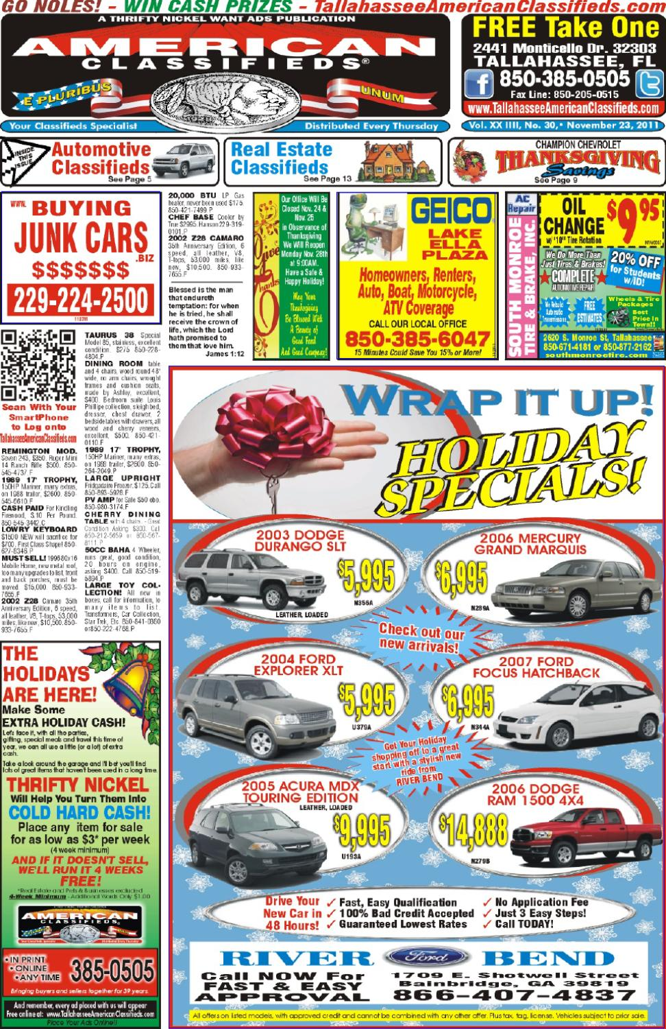 Tallahassee american classifieds issue 11 23 11 by - Craigslist tallahassee farm and garden ...
