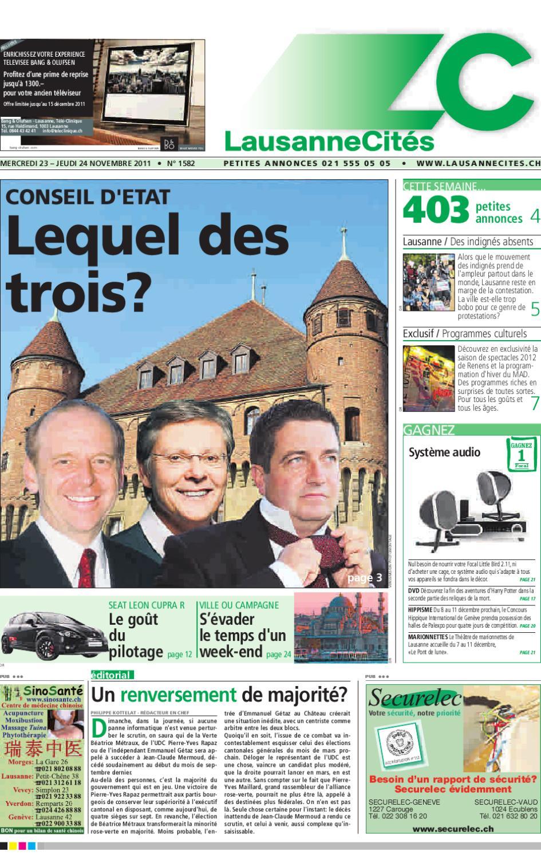 Lausanne Cités du 24.11.2011 by GHI   Lausanne Cités - issuu 335a773e1bc
