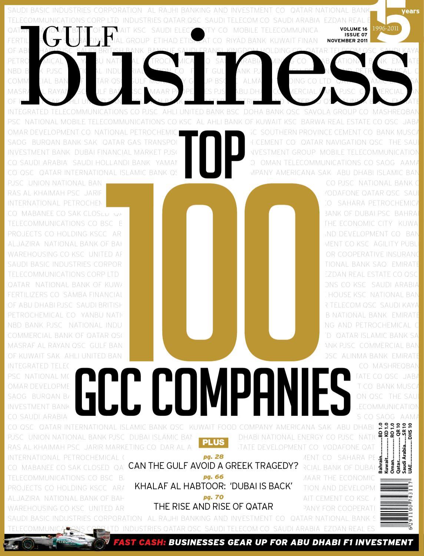 Gulf Business November 2011 by Motivate Publishing - issuu